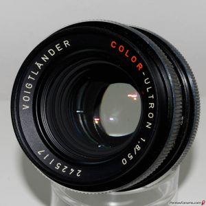 Voigtlander Color-Ultron 50mm f1.8 (in Rollei QBM mount)