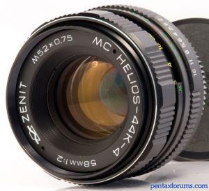 Zenit MC-Helios 44K-4 (KMZ) 58mm F2 Lens Reviews - Russian and