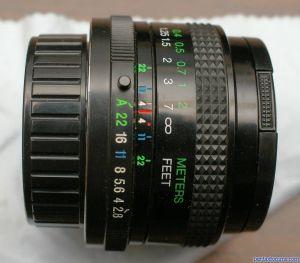 Vivitar 24mm f2.8 Auto-aperture MC close-focusing