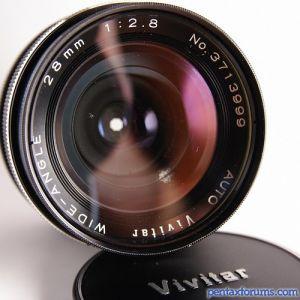 Vivitar (tokina) T4/TX mount Wide-Angle 28mm 1:2.8