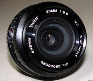 Vivitar (Komine 28xxxx) MC 28mm f2.8 Wide Angle