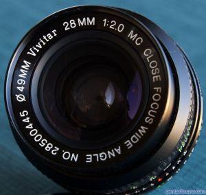 Vivitar (Komine 28xxxx) 28mm F2 0 MC Close Focus Wide Angle Lens