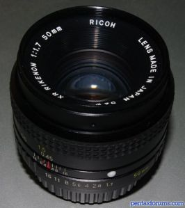 Ricoh 50mm f1.7 XR Rikenon